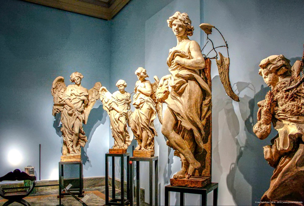 plaster casts by Bernini in the Vatican Pinacoteca