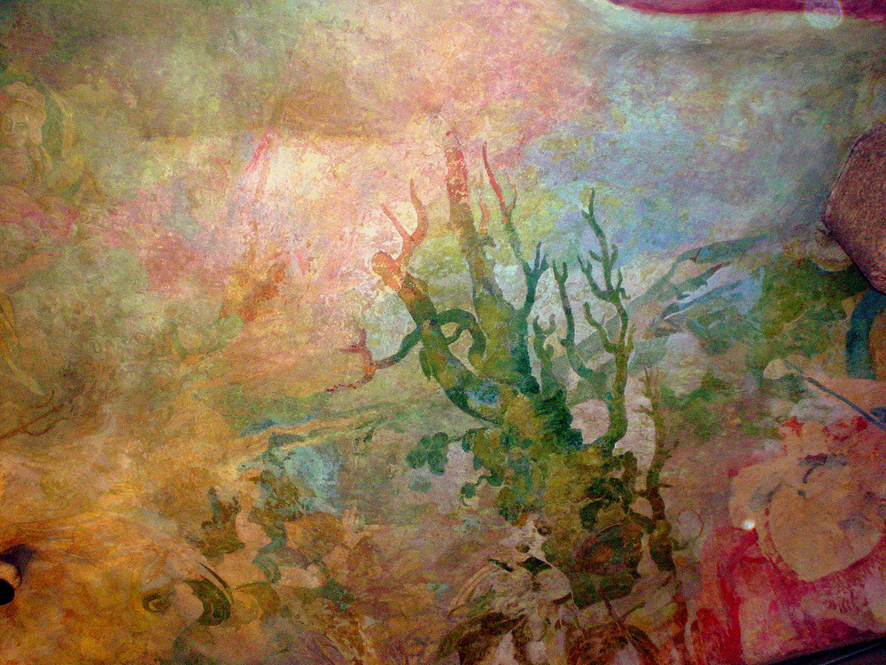 painting detail from the La Pedrera lobby