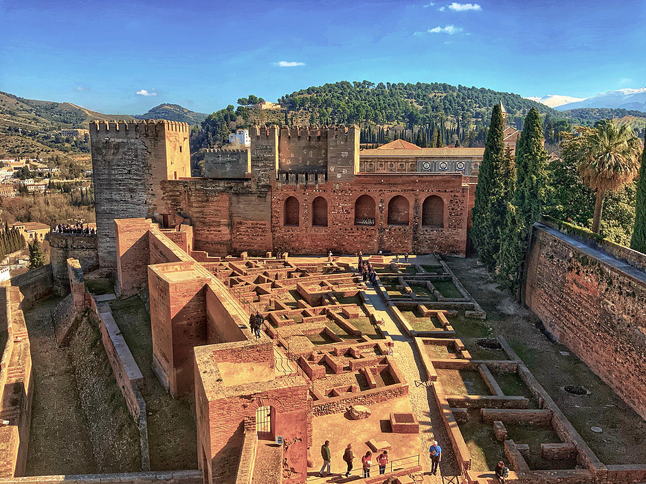 Arms Square, the entrance to the Alcazaba in Granada's Alhambra