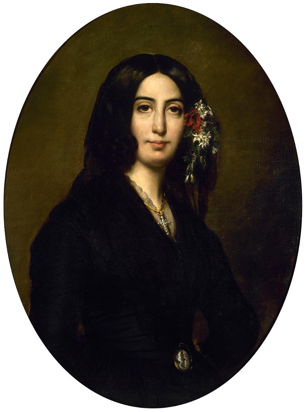 Auguste Charpentier's famous portrait of George Sand in the Musee de la vie Romantique.