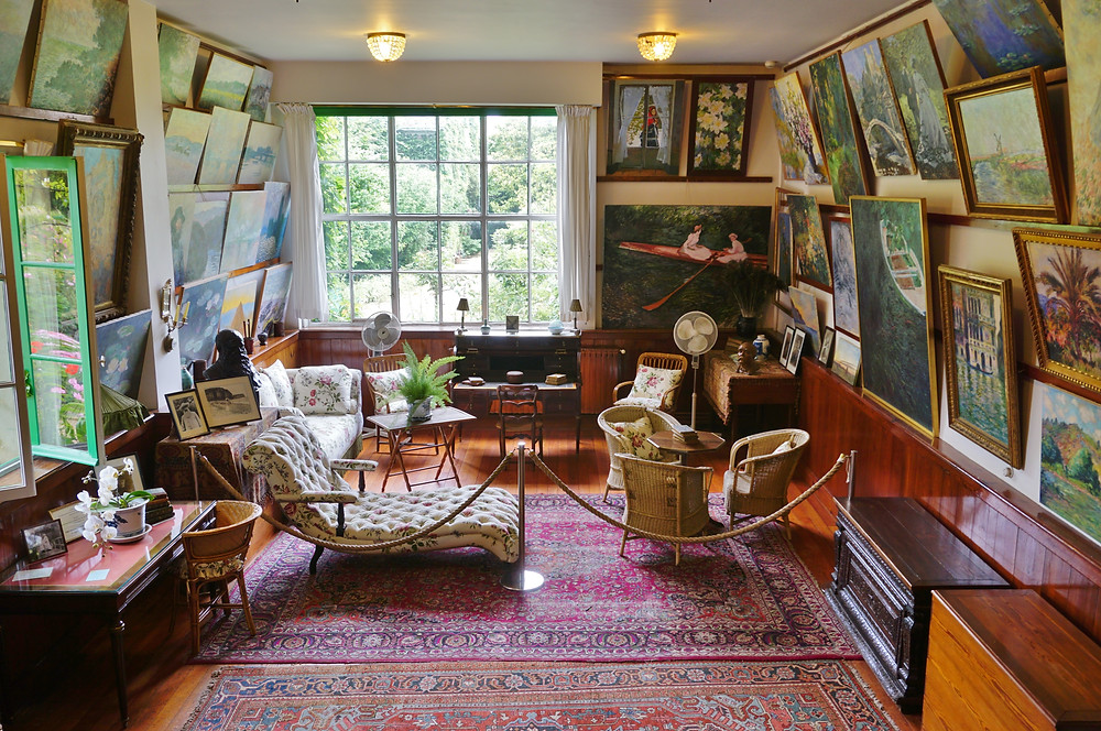 Monet's living room studio in Giverny