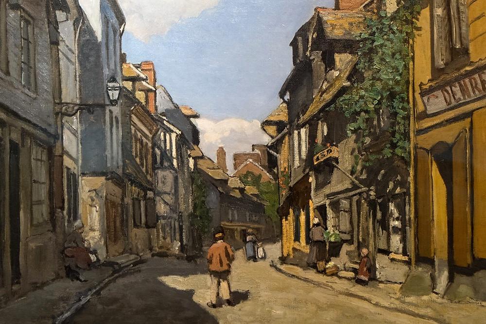 Monet, Rue de la Bavole, 1864 -- a very early Monet painting