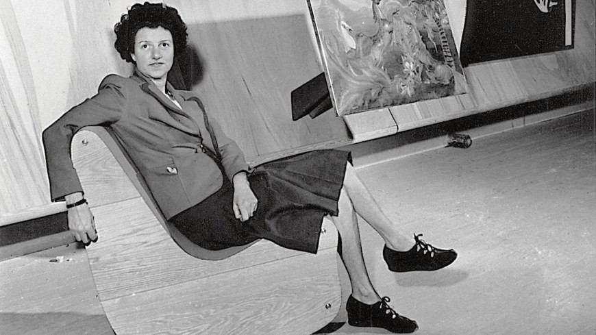 Peggy Guggenheim at her new York gallery Art of this Century
