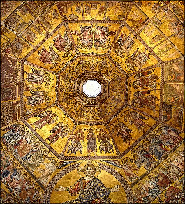 mosaics on the Baptistery ceiling