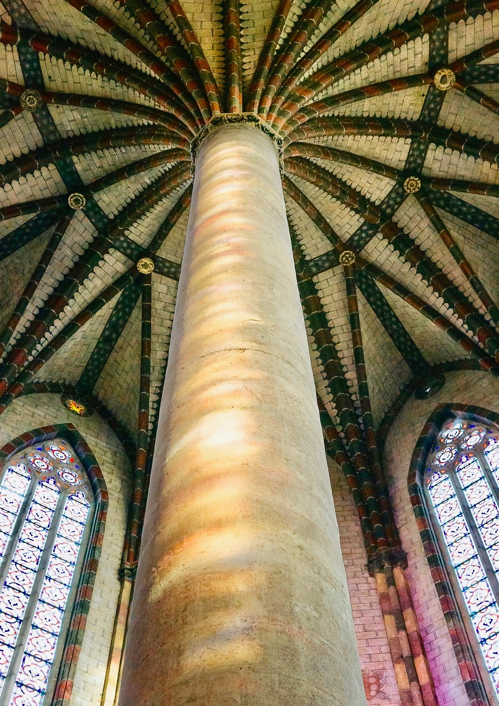 "the ""palm tree"" of the church of the Jacobins in Toulouse France"