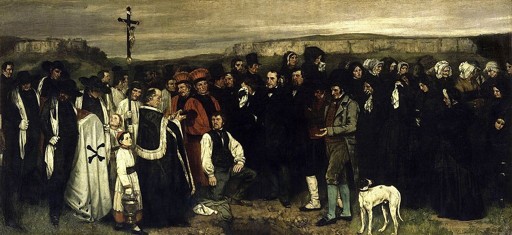 Gustave Courbet, Burial at Ornans, 1849-50
