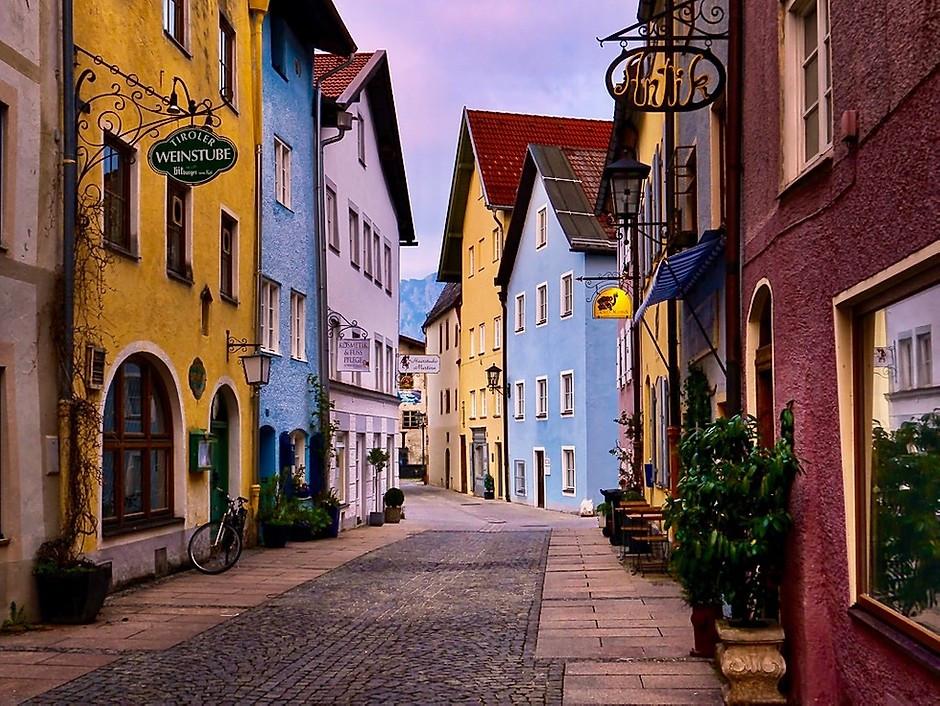 pretty street in Fussen Germany