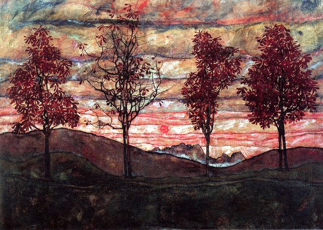 4 Trees, Egon Sciele, 1917