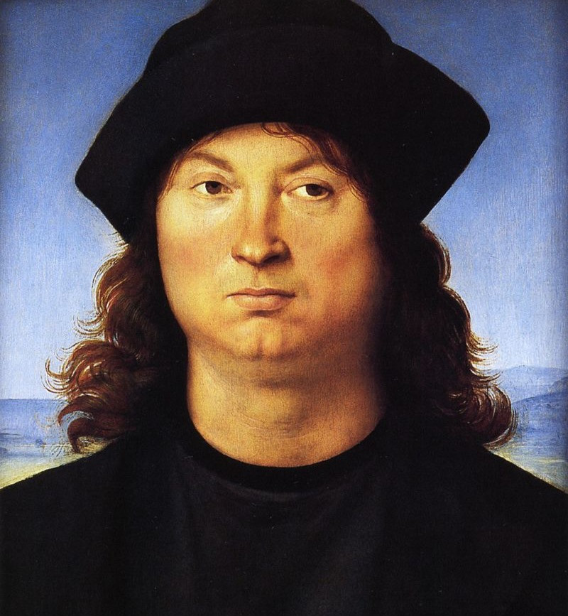 Raphael, Portrait of a Man, 1502 -- an early Raphael painting in the Borghese Gallery