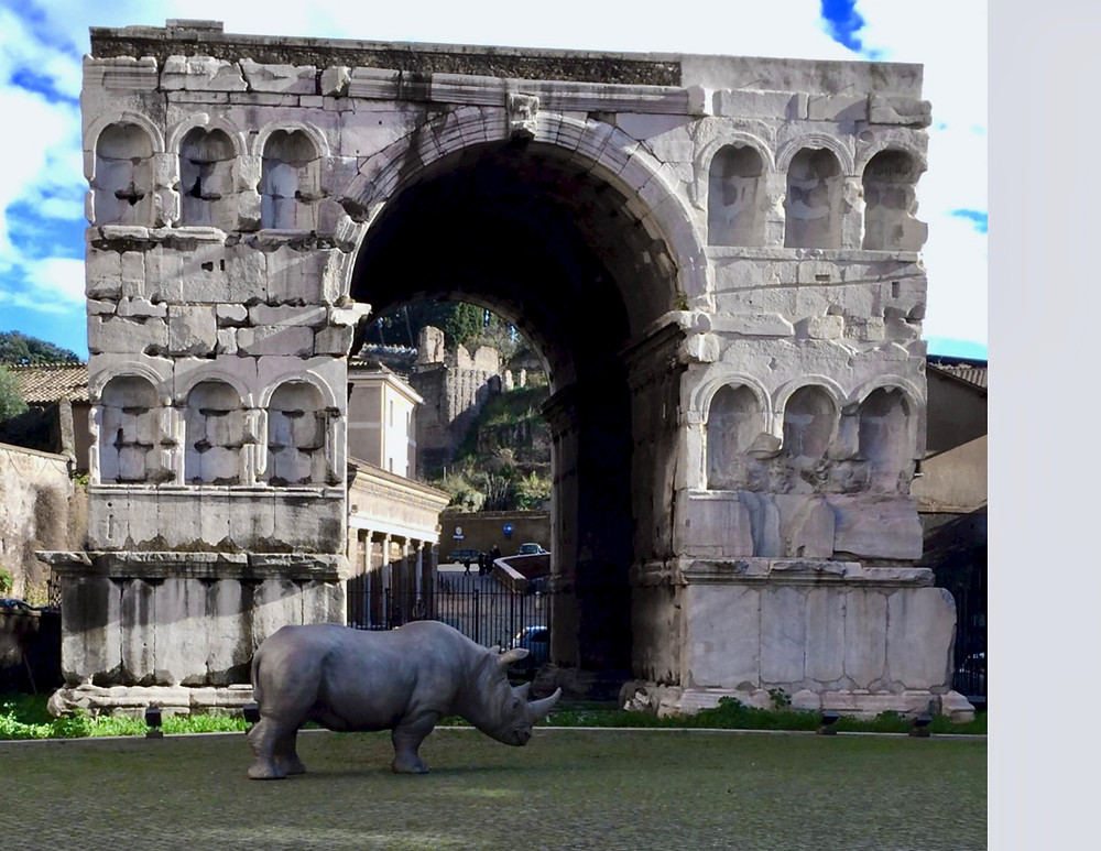 the Arch of janus in the square of the Palazzo Rhinococros