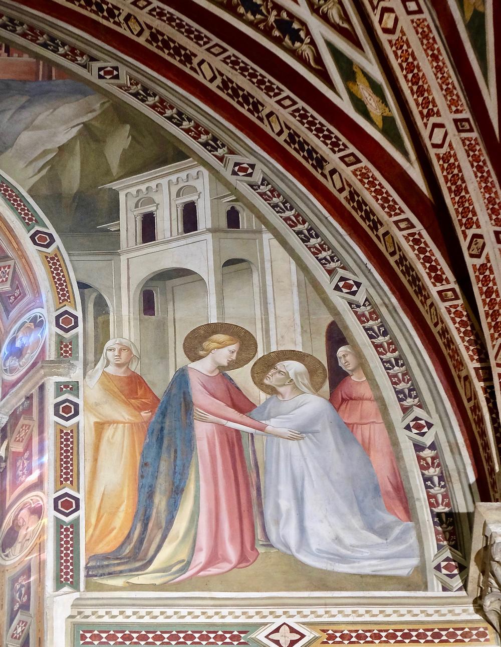 Taddeo Gaddi, Stories of the Virgin: Visiting Elizabeth, 1295-1366