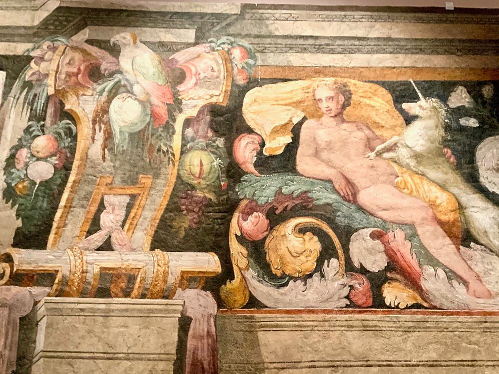 frescos in Castle Sant' Angelo