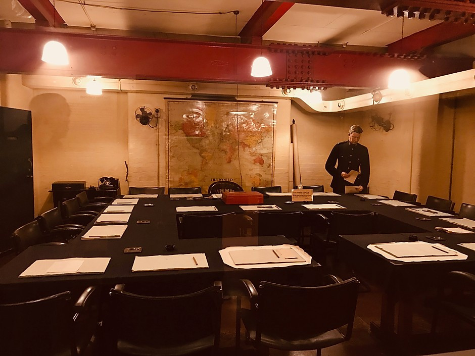 the War Cabinet Room in the Churchill War Rooms Museum