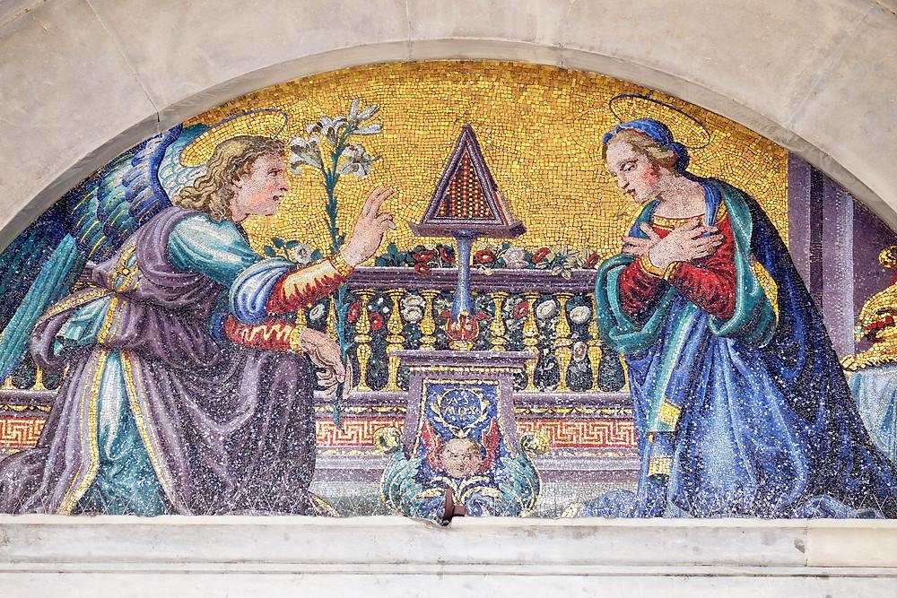 mosaic of the Annunciation in Santissima Annunziata