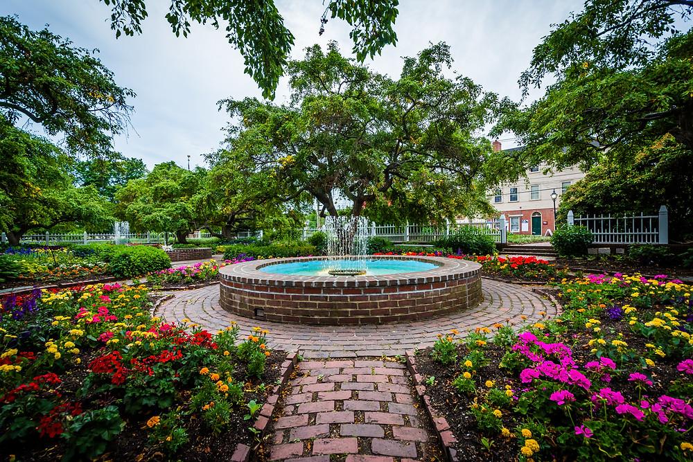gardens in Prescott Park in Portsmouth NH