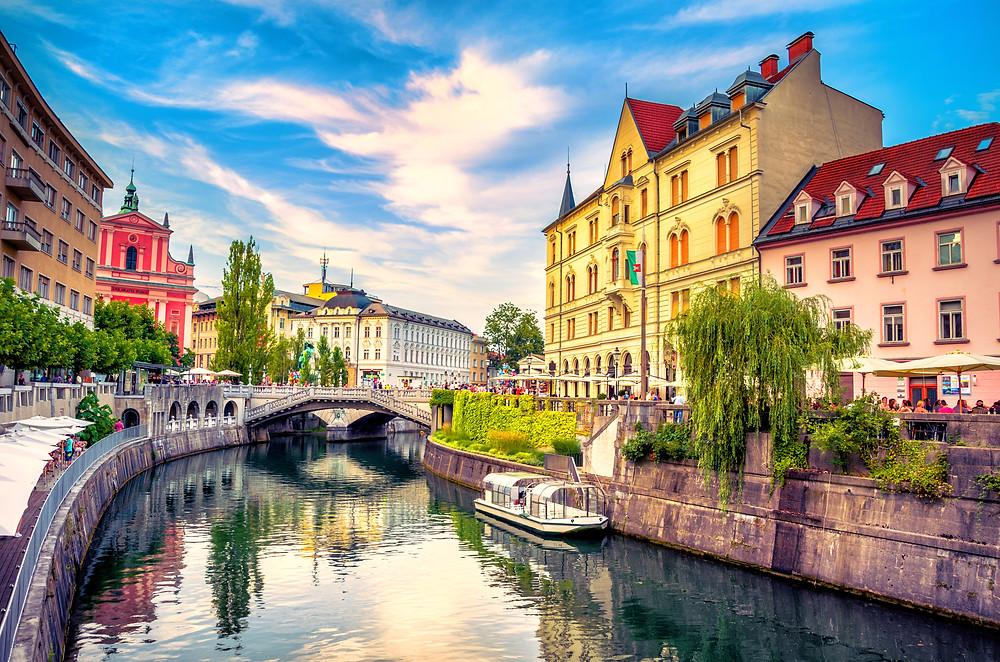 Ljubljana, the beautiful capitol of Slovenia