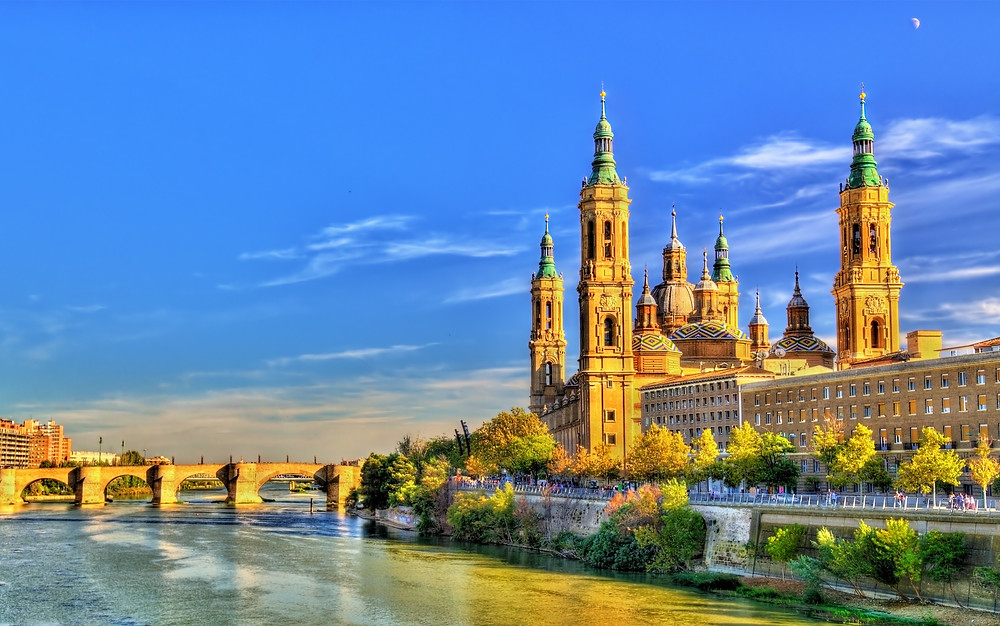 Basilica of Our Lady of the Pillar in Zaragoza Spain