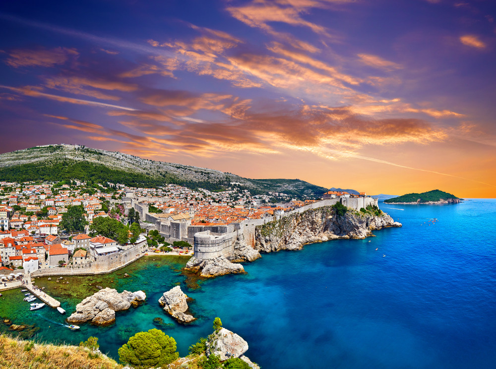 the stunning walled city of Dubrovniik