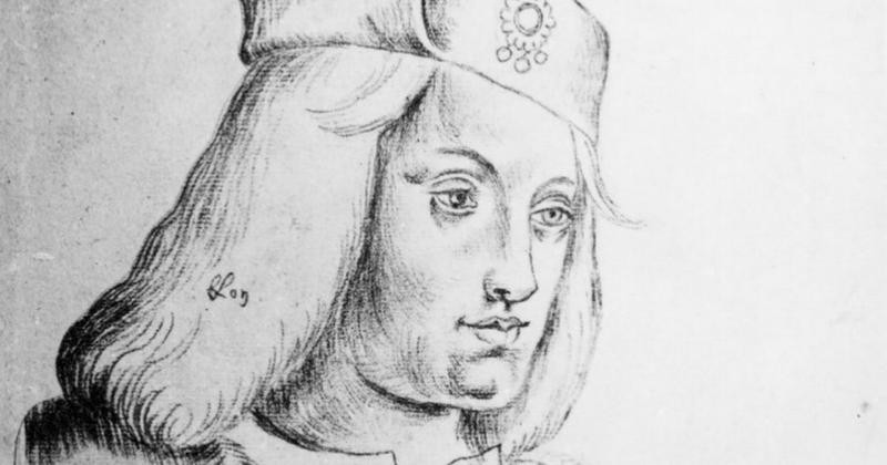 a drawing of Perkin Warbeck, possibly Richard Duke of York