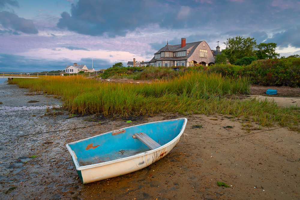 Low tide at Sears Road in Chatham MA on Cape Cod