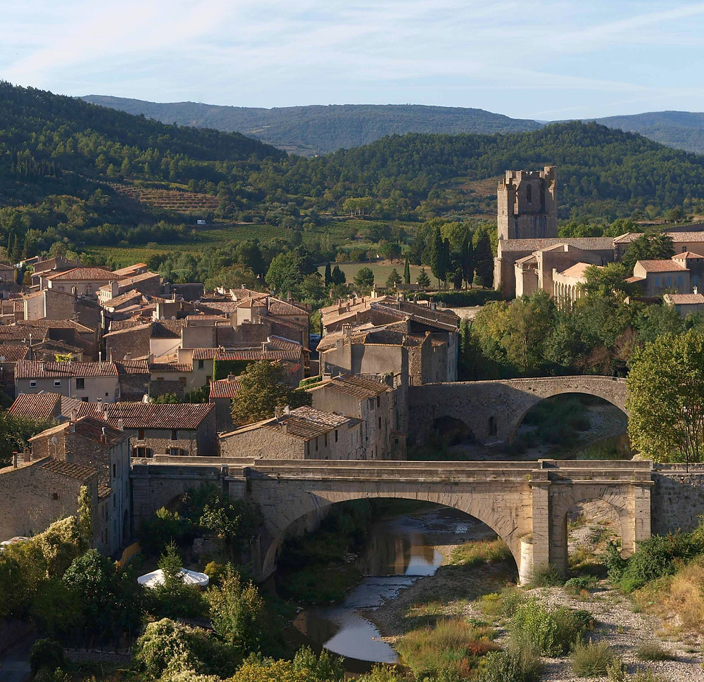 the village of Lagrasse in Occitanie France