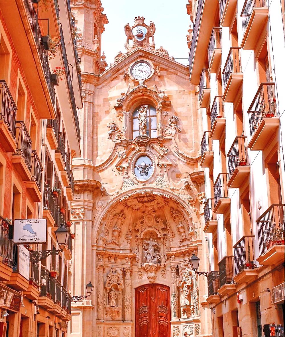 the Basilica of Saint Mary of the Chorus in San Sebastian
