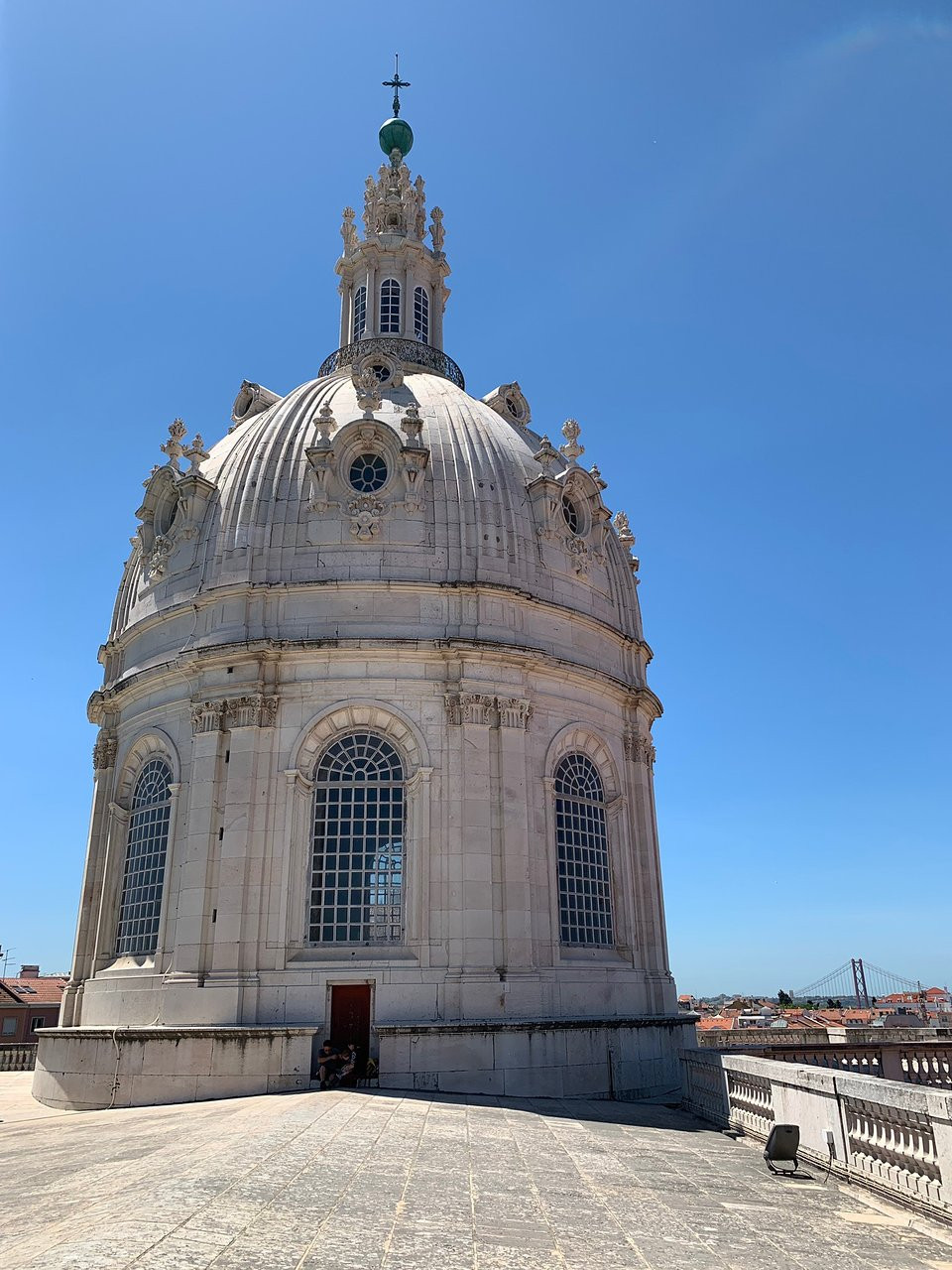 the stately white dome of the Basílica da Estrela, which can be seen from afar