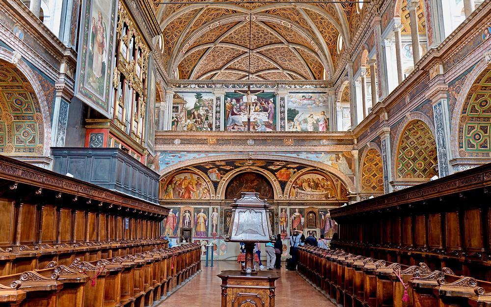 Frescos in the Chiesa di San Maurizio