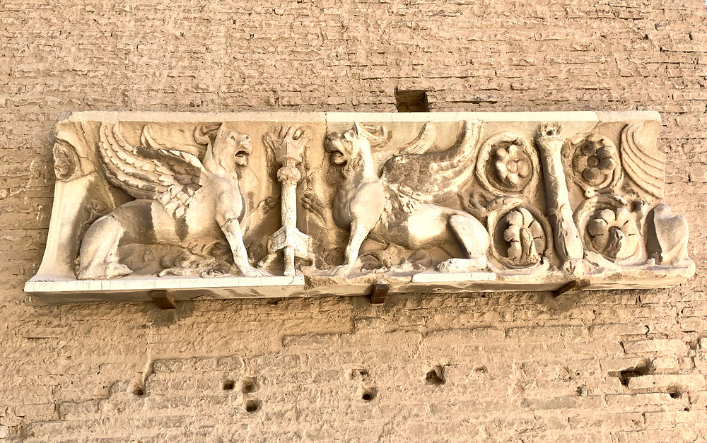 decorations on the exterior of the House of Augustus