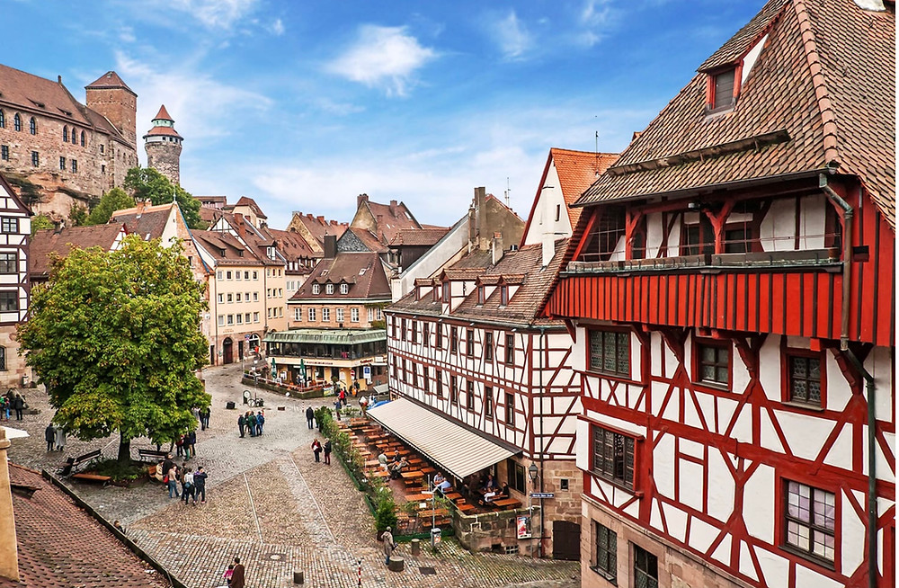 beautiful facades in Nuremberg