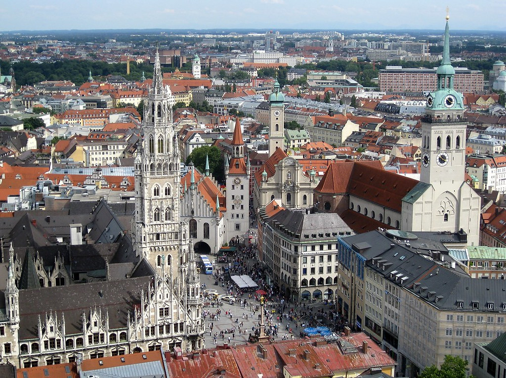 view of Munich from St. Peter's Tower