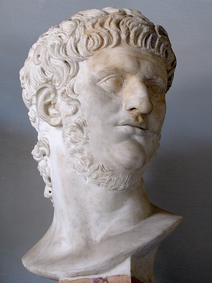 bust of the bad boy Emperor Nero, who has few extant statues since his memory was damned