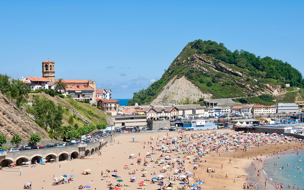 the fishing village of Getaria on the Basque coast