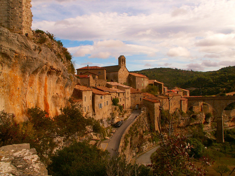 the village of Minèrve in Occitanie France