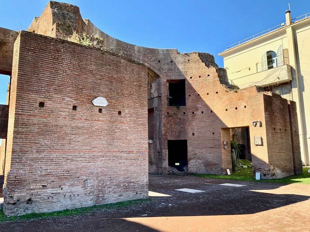entrance to the House of Augustus on Palatine Hill