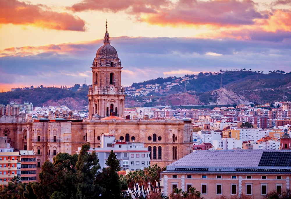 view of Malaga Cathedral