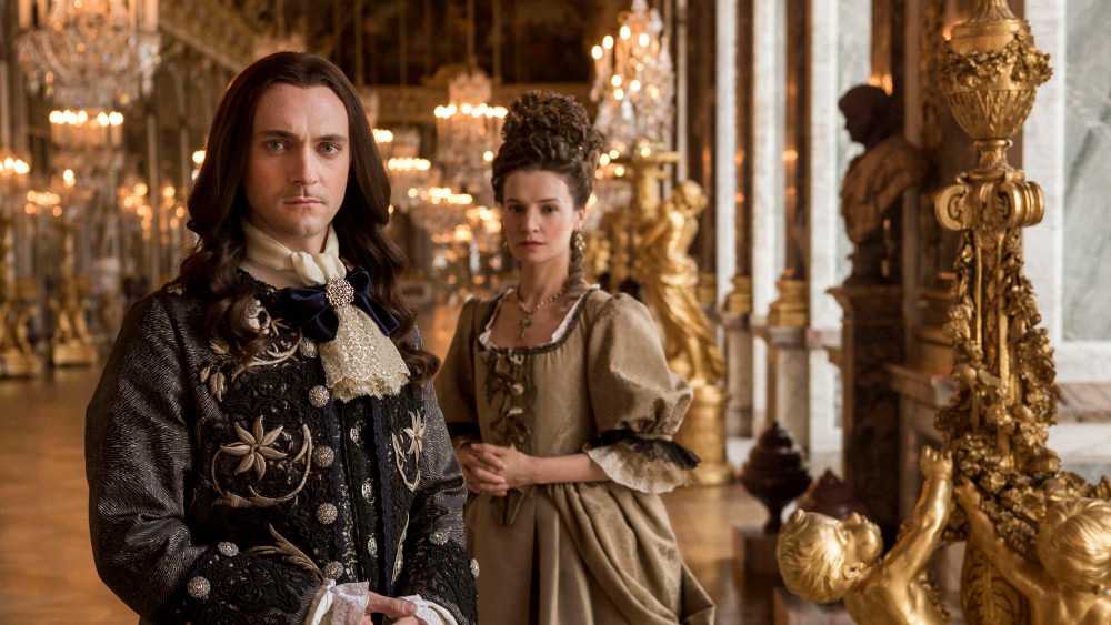 Louis with his mistress and eventually secret wife Madame de Maintenon in the Hall of Mirrors