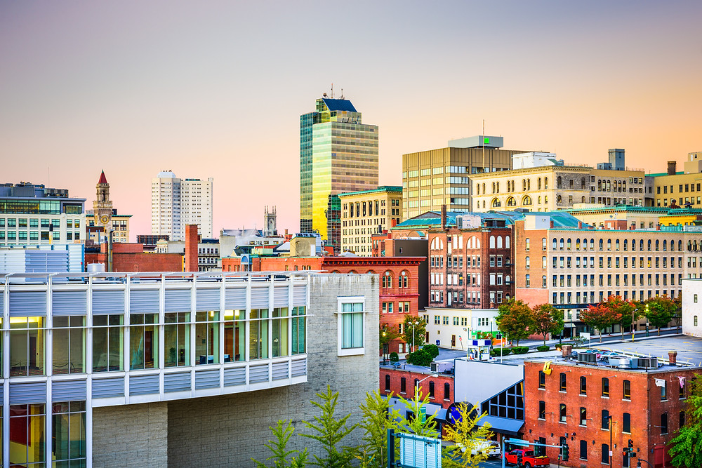 cityscape of Worcester