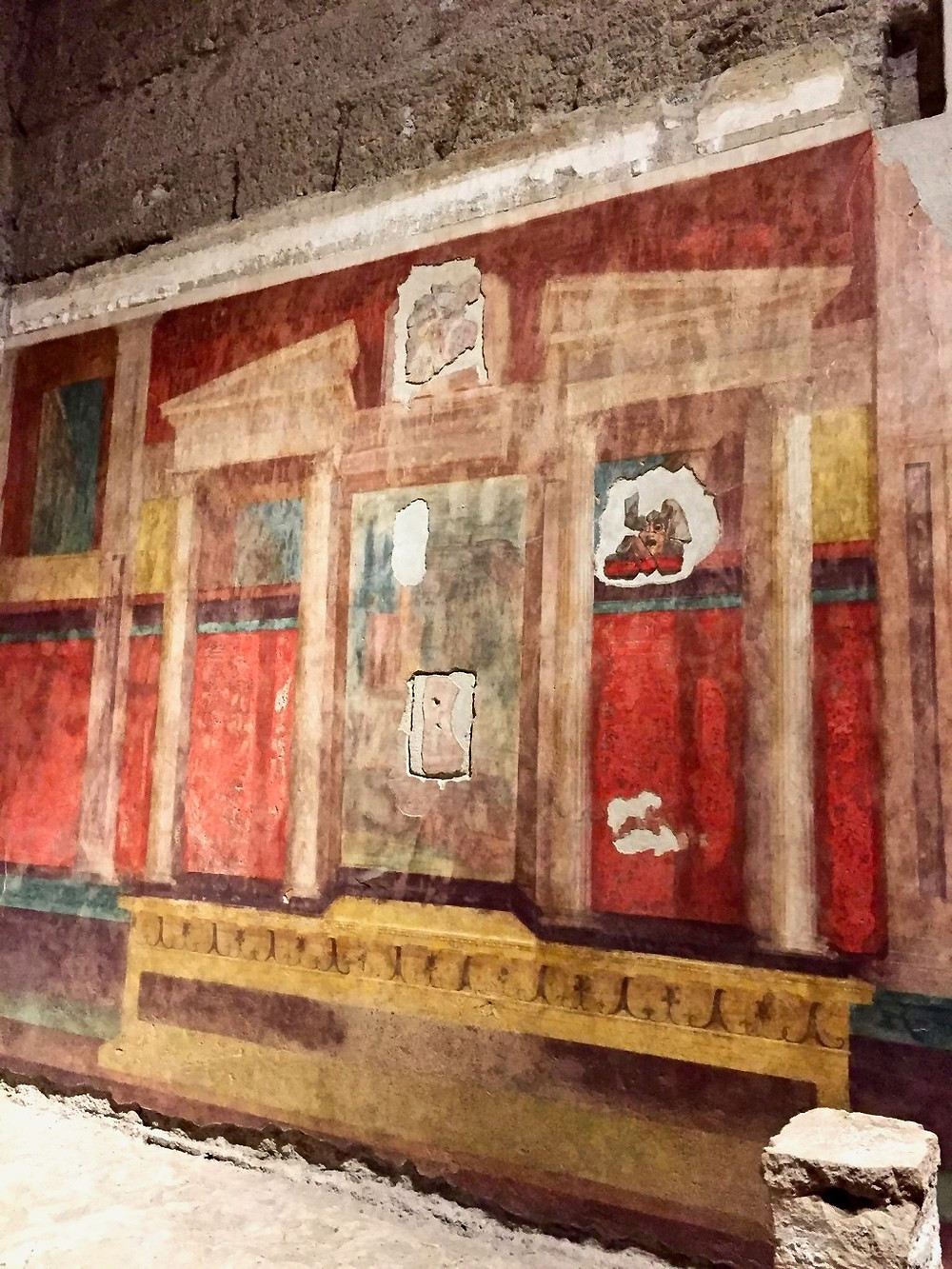 fresco in the Large Oecus room