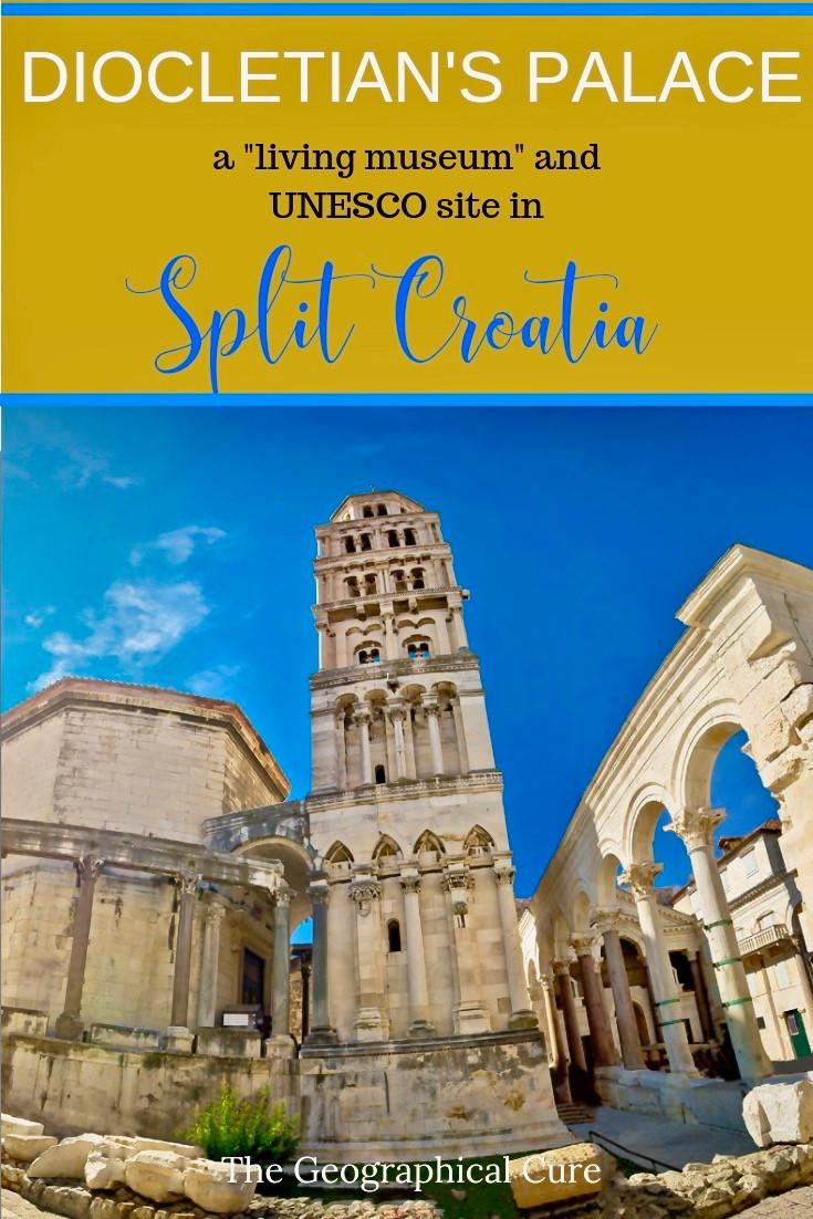 Diocletian's Palace, a UNESCO Site in Split Croatia