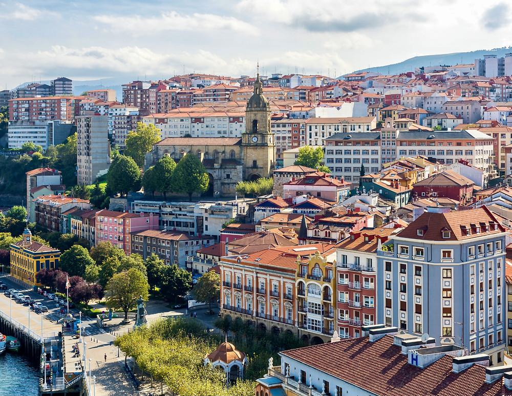 view from the Vizcaya Bridge