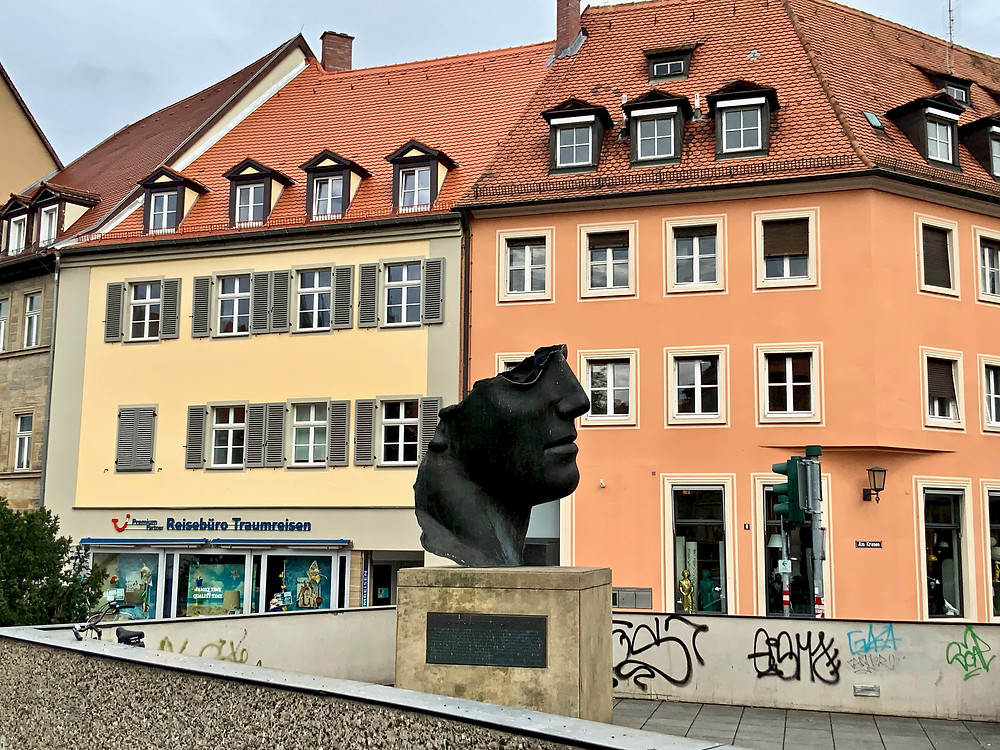 the Centurion sculpture by Polish artist, Igor Mitoraj in Bamberg's old town