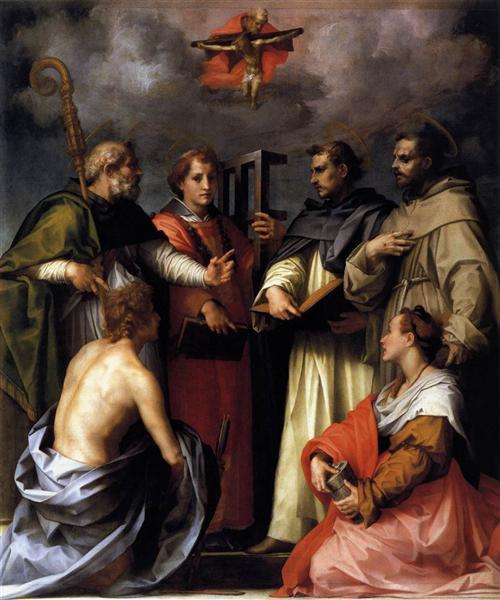 Andrea del Sarto, Disputation on the Holy Trinity, 1518