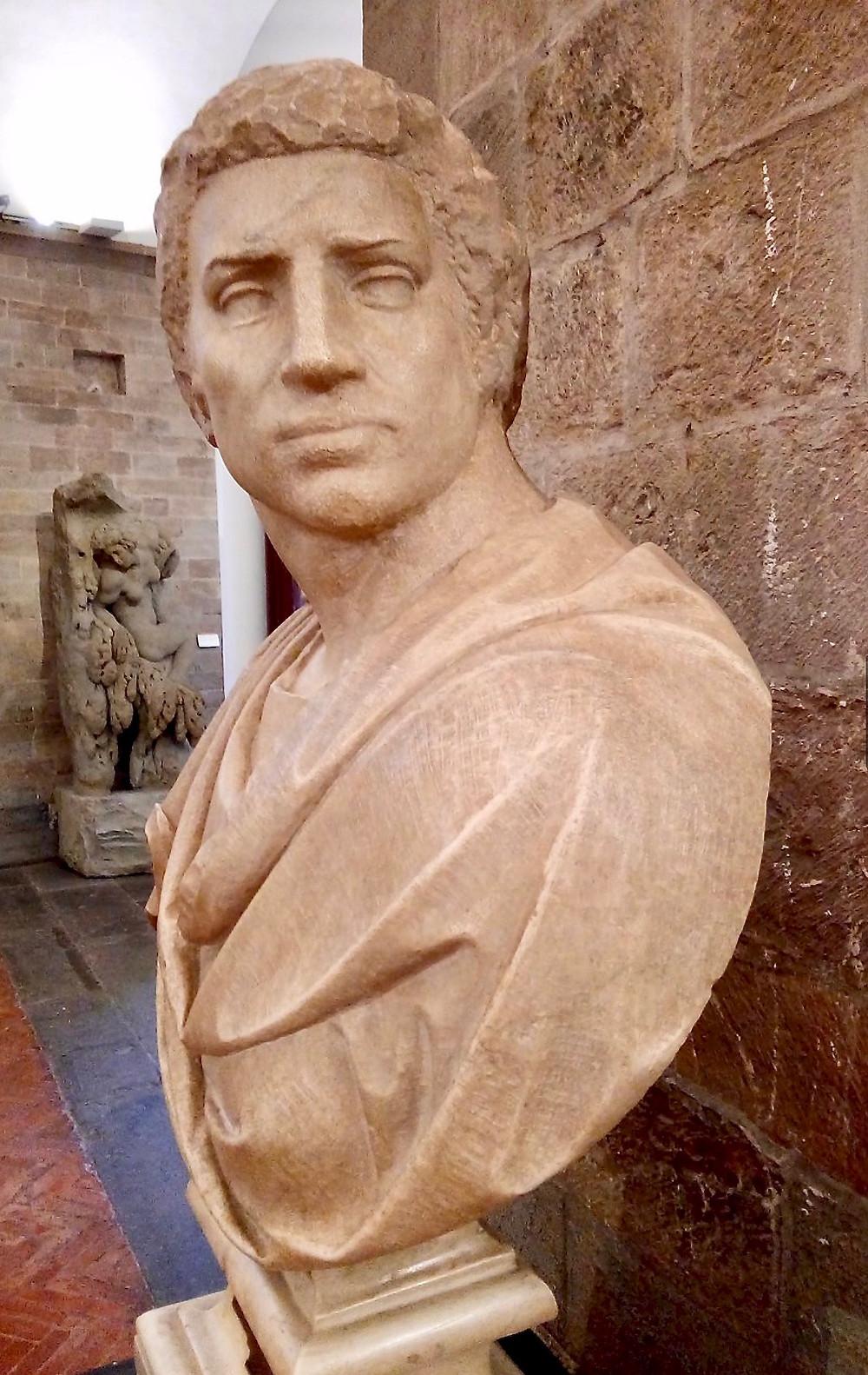 Michelangelo, Bust of Brutus, 1539-40