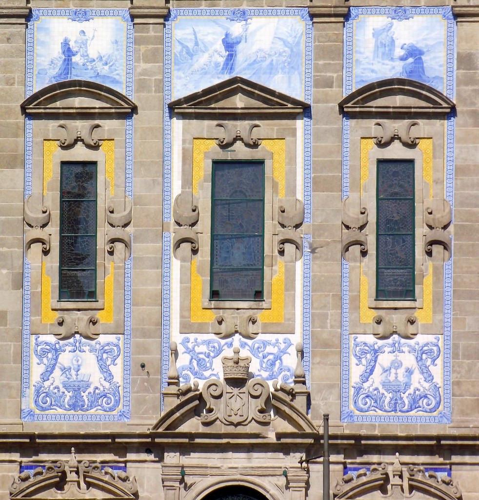 close up of the facade of Igreja dos Congregados