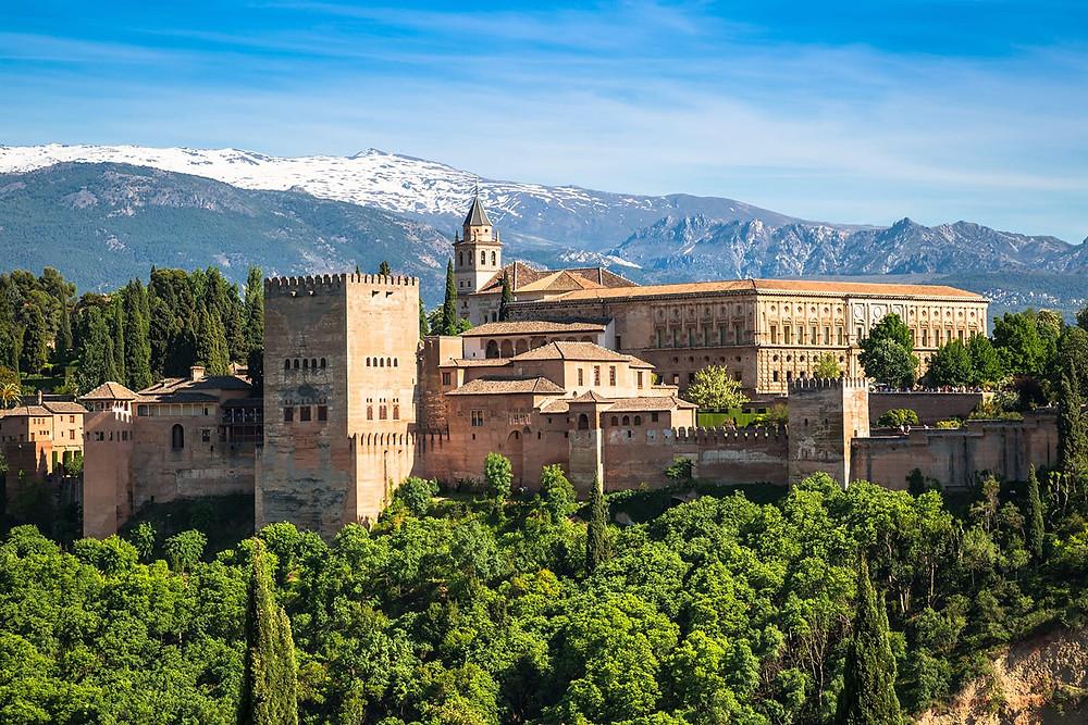 the mighty Alhambra in Granada
