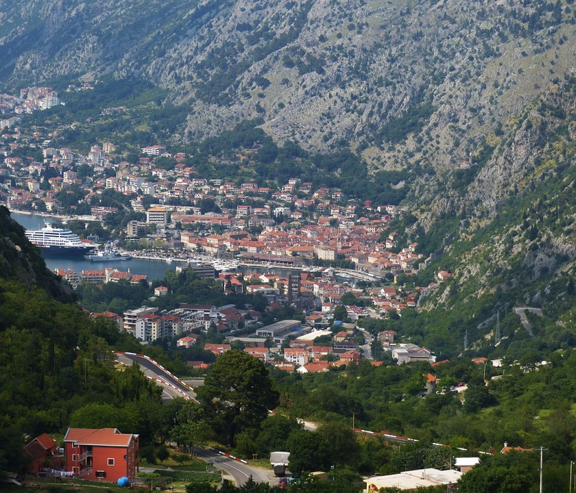 view of the Bay of Kotor and Kotor town