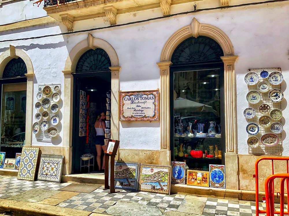 Carlos Tomás ceramics shop in Coimbra Portugal