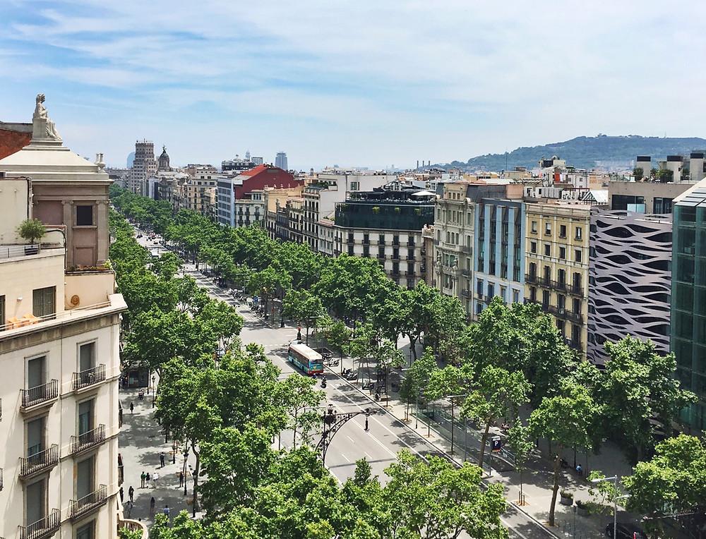 Passeig de Gracia, a main artery in Eixample