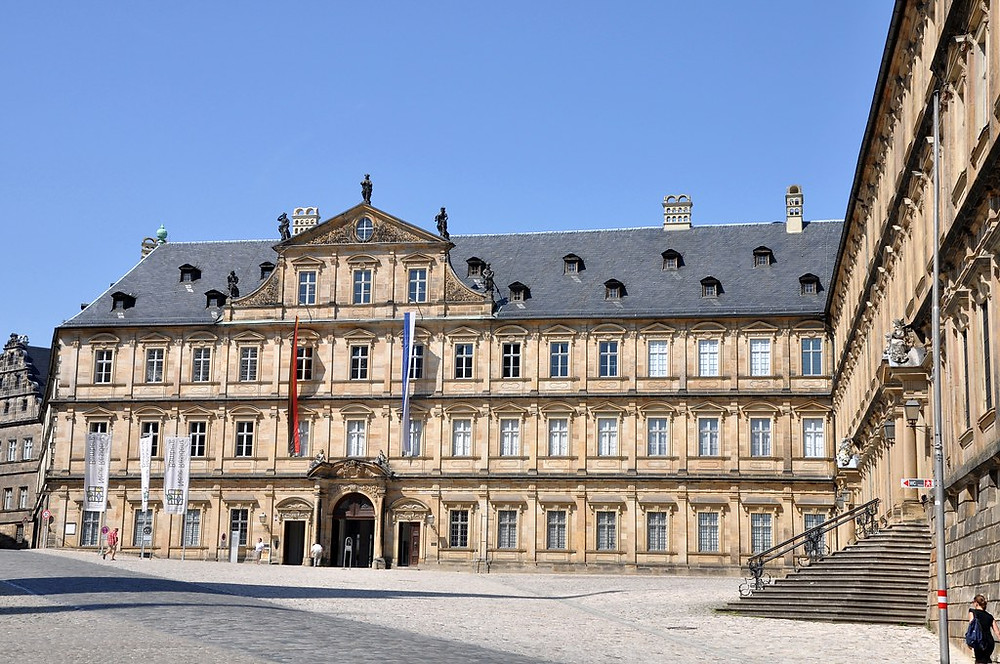 facade of the Neue Residence in Bamberg